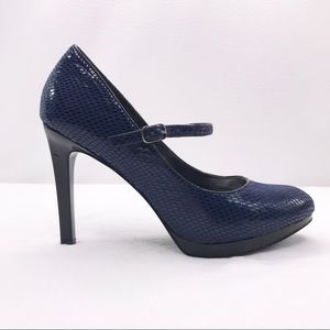 WHBM Bailey Mary Jane heels in Navy